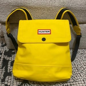 Hunter Yellow Rubber Backpack